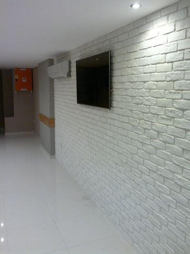 Antik Tuğla Beyaz Duvar Kaplamaları