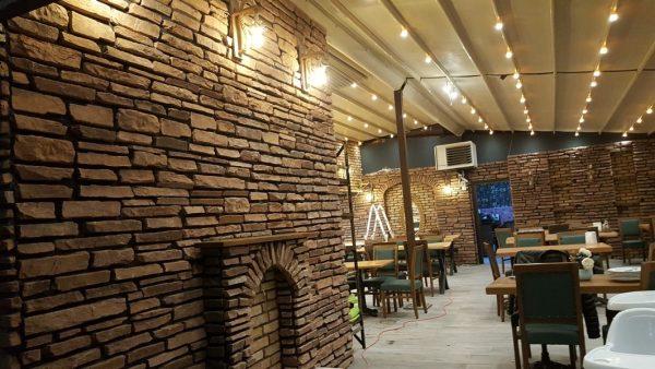 Dekoratif Kültür Taşı Cafe Restorant Taş Cephe Kaplama Modeli Perito Moreno Marron