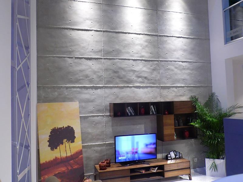 Delik Brüt Beton Duvar Kaplama Panel Modeli