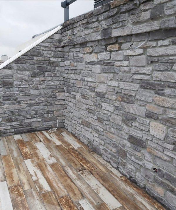 La Rinconada Kültür Taşı Ceniza Balkon Duvarı Kültür Taş Kaplama Uygulamaları