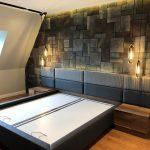 Persia Kültür Taşı Antracita Yatak Odası Taş Duvar Kaplama Modeli