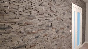 Rotto Taş Panel Gris İç Cephe Duvar Kaplama Panelleri