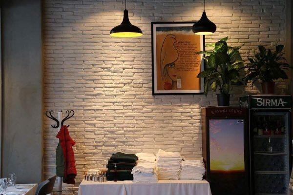 Sedir Beyaz Tuğla Duvar Kaplama Modeli