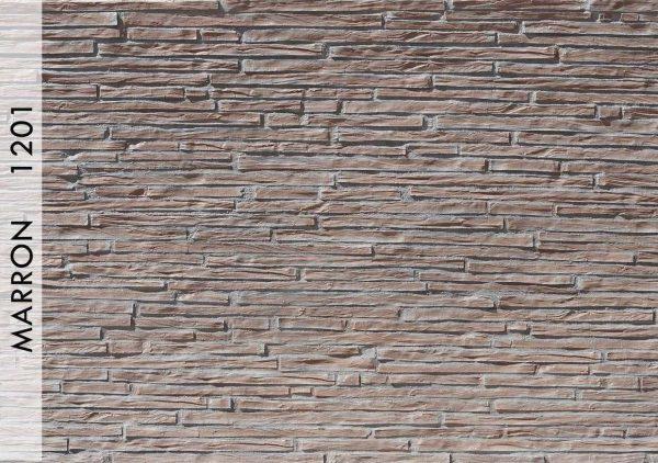 Breccia Ahşap Panel Marron - 1201
