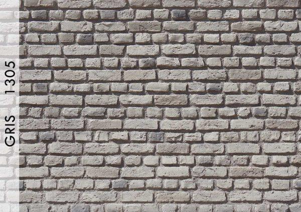 Ladrillo Tuğla Panel Gris – 1305