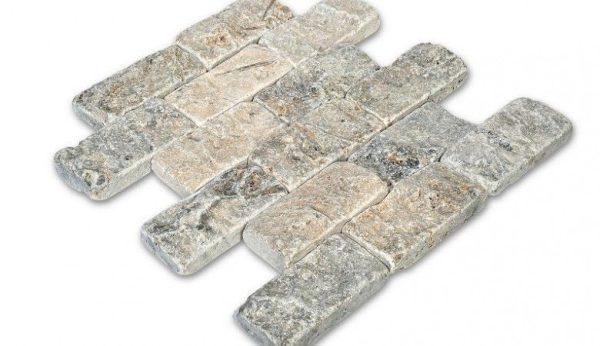 Doğal Patlatma Taş Split Face Esk. Silver
