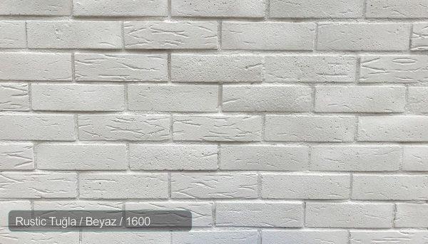 Rustic Tuğla Beyaz 1600