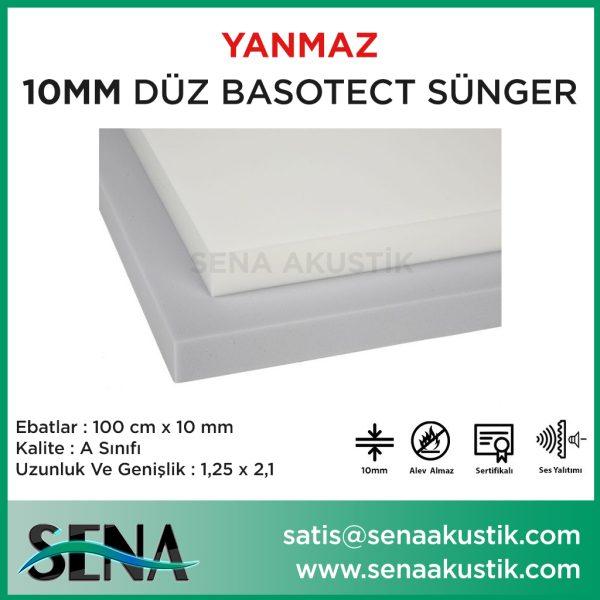 10mm Basotect Akustik Yanmaz Sünger m2 Fiyatları