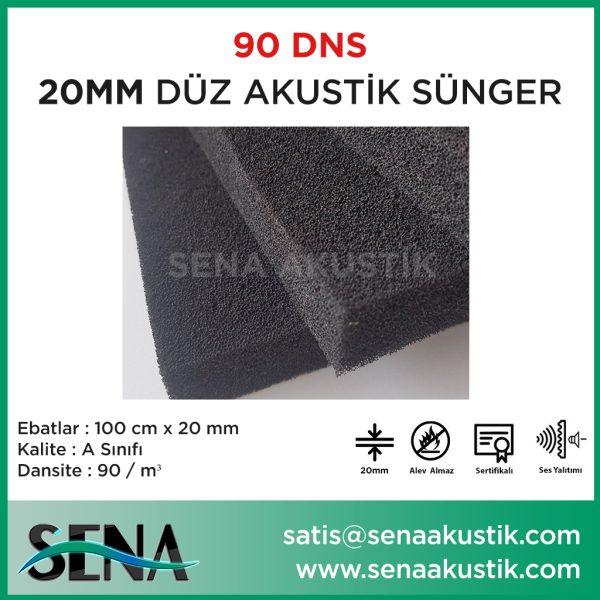 20 mm Düz Akustik Yanmaz Sünger 90 dansite m2 Fiyatları