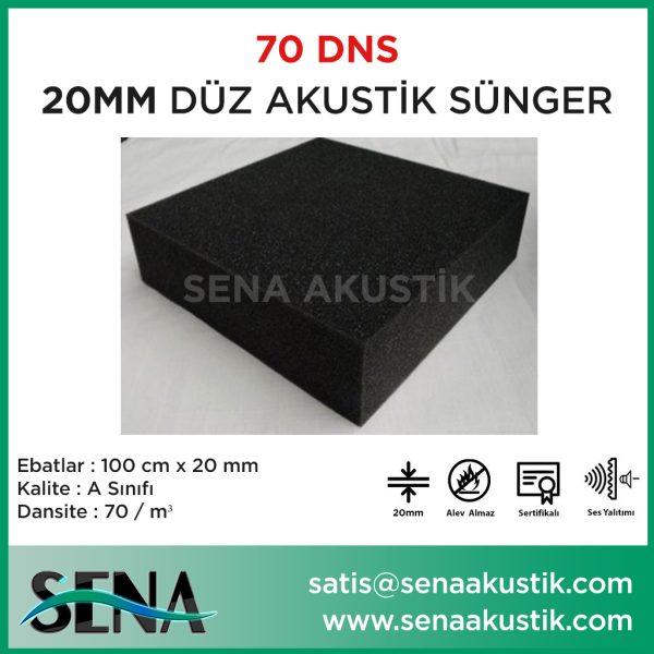 20 mm Düz Akustik Yanmaz Sünger 70 dansite m2 Fiyatları