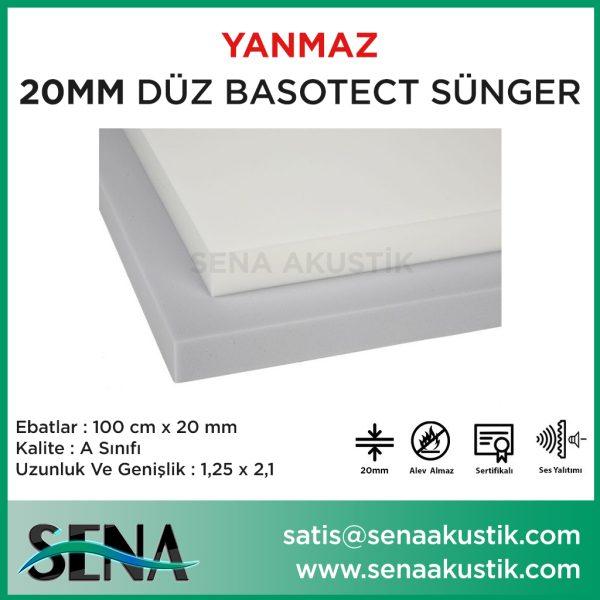 20mm Basotect Akustik Yanmaz Sünger m2 Fiyatları