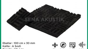 30mm Akustik Yanmaz Labirent Sünger m2 Fiyatları