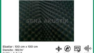 30mm Yanmaz Akustik Sünger 90 Dansite m2 Fiyatları