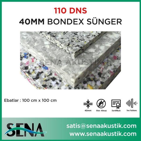 40 mm 110 Dns Yoğunlukta Bondex Ses yalıtım Süngerleri m2 Fiyatları