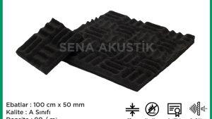 50 mm Yanmaz Akustik Labirent Sünger 90 Dansite m2 Fiyatları