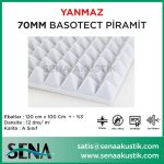 70mm Akustik Basotect Piramit Yanmaz Sünger