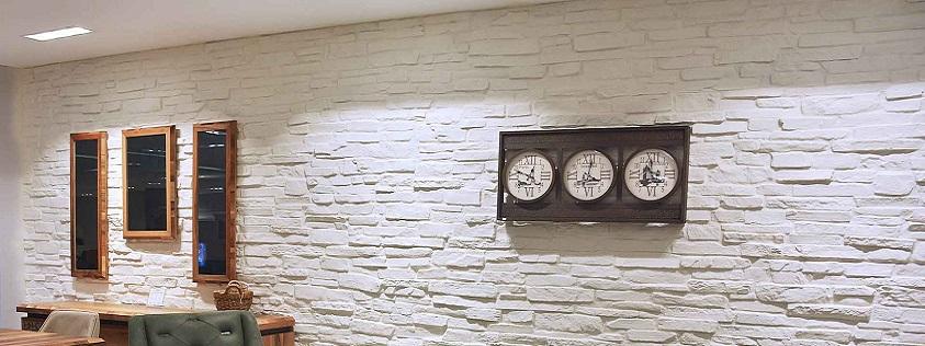 Dekoratif Fiber Doğal Taş Görünümlü Duvar Panelleri