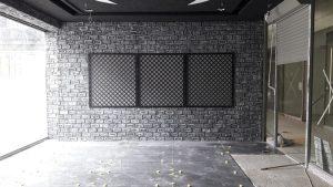 Fiber Polyester Ladrillo Scritto Negra White Tuğla Panelleri uygulama