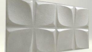 Çiçek Desenli Beyaz Rengi 3D Strafor Duvar Panelleri