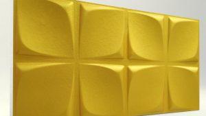 Çiçek Desenli Gold Rengi 3D Strafor Duvar Panelleri