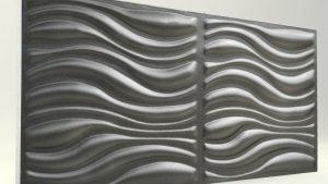 3D Strafor Duvar Panelleri Dalga Desenli Antrasit Modeli