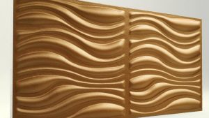 3D Strafor Duvar Panelleri Dalga Desenli BAKIR Modeli