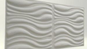 3D Strafor Duvar Panelleri Dalga Desenli Boyasız Mat Modeli