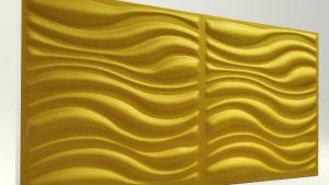3D Strafor Duvar Panelleri Dalga Desenli GOLD Modeli