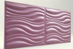 3D Strafor Duvar Panelleri Dalga Desenli LİLA Modeli