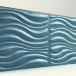 3D Strafor Duvar Panelleri Dalga Desenli Turkuaz Modeli