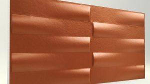 3d Xps Strafor Duvar Panelleri Koyu Bakır