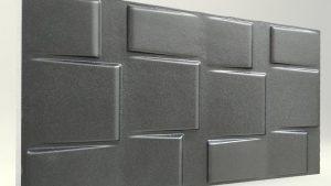 3d strafor duvar panelleri kare Antrasit