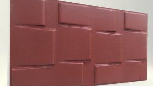3d strafor duvar panelleri kare Bordo