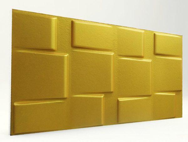 3d strafor duvar panelleri kare Gold