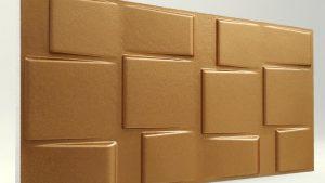 3d strafor duvar panelleri kare bakır