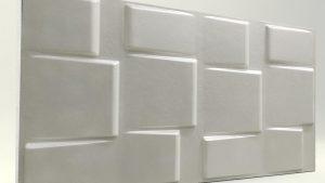3d strafor duvar panelleri kare inci beyaz