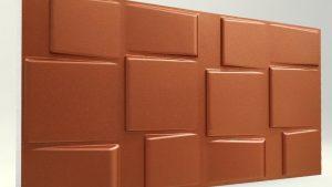 3d strafor duvar panelleri kare koyu bakır