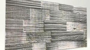 Ahşap Desenli Strafor Duvar Paneli Kütük Füme Modeli