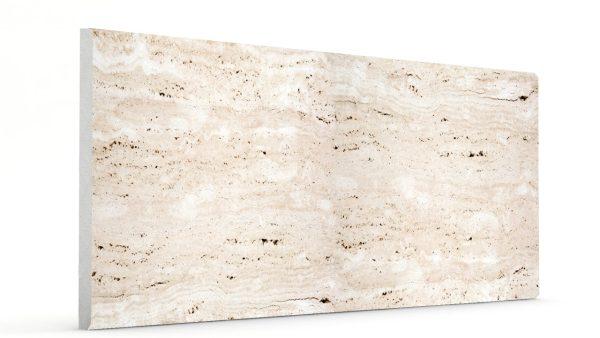 Düz Mermer Desenli Strafor Duvar Panelleri Kirli Beyaz Modeli