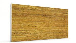 Düz Mermer Desenli Strafor Duvar Panelleri Koyu Hardal Modeli
