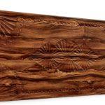 Dolunay Ağaç Kabuğu Oymalı Ahşap Panel