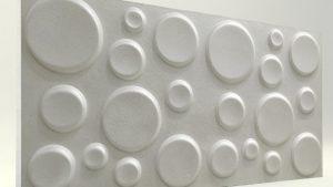 Elips İnci Beyaz 3D Strafor Duvar Panelleri