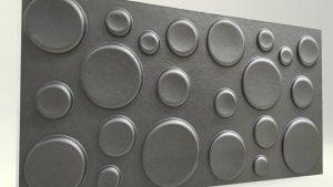 Elips Antrasit 3D Strafor Duvar Panelleri