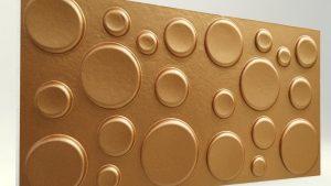 Elips Bakır 3D Strafor Duvar Panelleri
