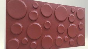 Elips Bordo 3D Strafor Duvar Panelleri