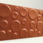 Elips Koyu Bakır 3D Strafor Duvar Panelleri