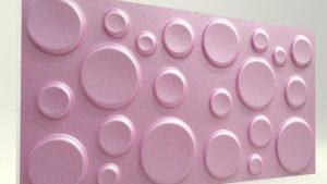 Elips Lila 3D Strafor Duvar Panelleri