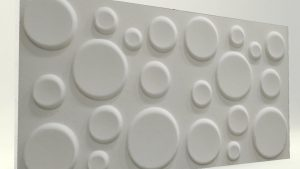 Elips Mat Boyasız 3D Strafor Duvar Panelleri