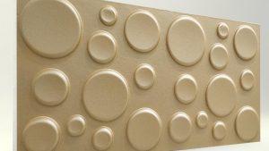 Elips Sütlü Kahve 3D Strafor Duvar Panelleri