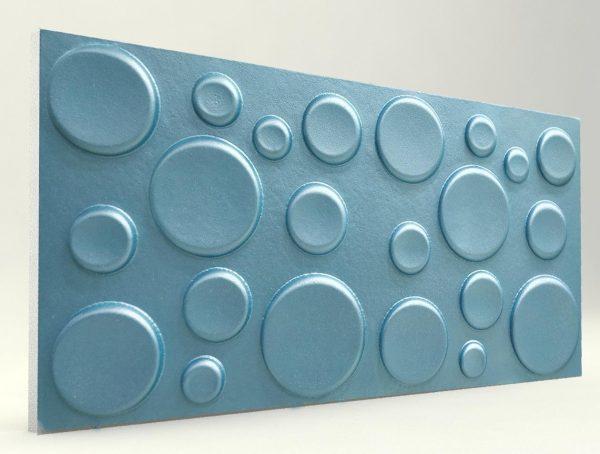 Elips Turkuaz 3D Strafor Duvar Panelleri